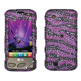New For LG VX8575 Chocolate Touch Purple Black Zebra Crystal Bling