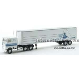 Con Cor N Scale Semi Truck w/45 Trailer   Freight Train