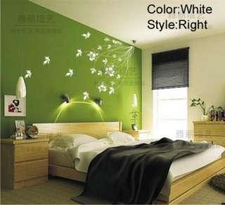 DIY Removable Elegant Flower Vine Vinyl Room Wall sticker Art Paper