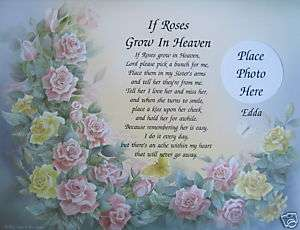 POEM FOR LOSS OF SISTER PERSONALIZED MEMORIAL GIFT