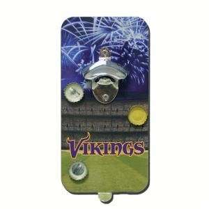 Minnesota Vikings Click N Drink Magnetic Bottle Opener