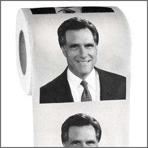PRESIDENT MITT ROMNEY TOILET PAPER ROLL   funny joke gag politcal crap