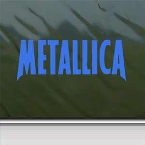 Metallica Blue Decal Metal Rock Band Truck Window Blue