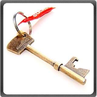 Copper Red Key Shaped Metal Bottle Opener Cilp Keychain