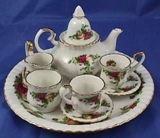 Royal Albert Old Country Roses Mini Tea Set NIB