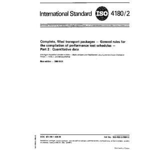 ISO 4180 21980, Complete, filled transport packages