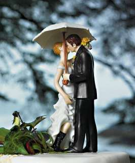 Showered with Love Bridal Couple Wedding Cake Topper