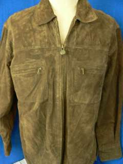 FOREST CLUB by RAINFOREST Suede Leather Jacket Size Med