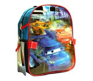 DISNEY CARS BOYS KIDS 12 MINI BACKPACK BAG w LUNCH BAG