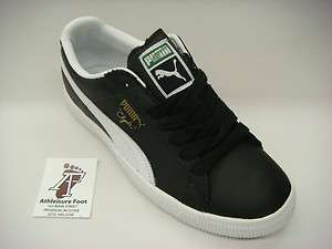 PUMA CLYDE LEATHER FS AUTHENTIC SNEAKERS NEW SUPREME BLACK WHITE