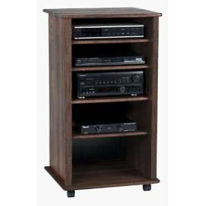 Solid Hardwood Component Cabinet with Glass Kit