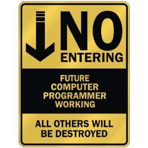 NO ENTERING FUTURE COMPUTER PROGRAMMER WORKING  PARKING