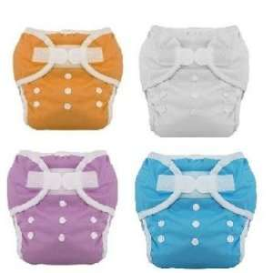 Diaper Size 1 6 Pack Boy Colors with Reusable Dainty Baby Bag Bundle