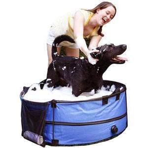 Pet Store Portable Collapsible Pet Dog Bath Bathing Grooming Tub with