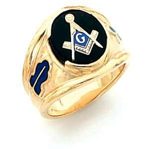 Oval Blue Lodge Ring   Vermeil/Yellow Gold Filled Jewelry