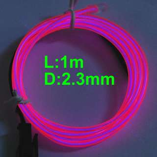 Flexible Neon Light Glow EL Wire Rope Tube Car Party Bar 1M+Driver Hot