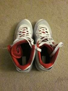Nike Lebron James VIII 8 (v2)   White Grey Varsity Red