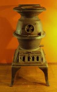 Potbelly Stove by The Atlanta Stove Works No. 40 1889 Conestoga