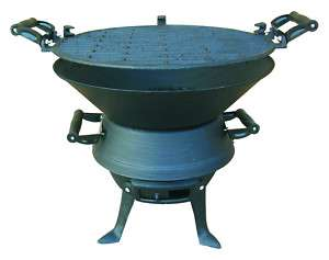 Cast Iron Cooking Grill Flame Barbeque BBQ Garden Camp