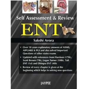 Self Assessment & Review ENT (9788184485431): Arora: Books
