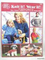 Knit it Wear it Knit Pattern Book ~ Adult, Baby, Dog Clothing ~ 33