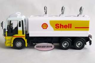 New 132 Man Shell Tank Truck Diecast Model Car With Box White&Yellow