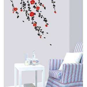 Wind Flower Decor Mural Sticker Wall Paper KRS 0103