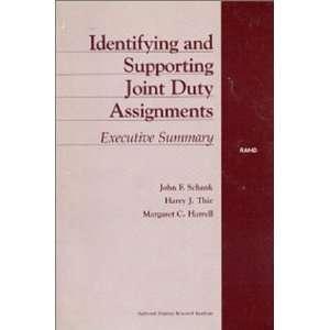 Duty Assignments Executive Summary (9780833023193) J Schank Books