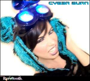 LED Goggles Cyber Steampunk Goggles Cosplay New Goth