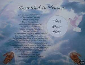 Dear Dad In Heaven Poem In Loving Memory Memorial Verse