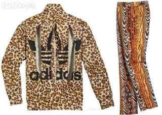 Adidas Jeremy Scott ObyO Leopard Firebird Track Suit SMALL Jacket Top