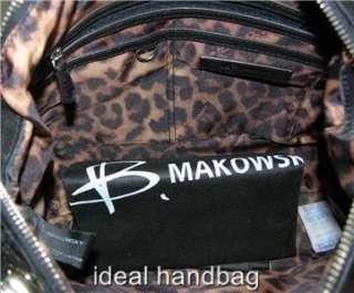 5623c96da6c8 NWT B MAKOWSKY DARCY  268 BLACK LEATHER BAG PURSE on PopScreen