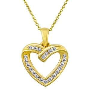 Dazzling .50 Carat Channel Set Diamond Heart Pendant