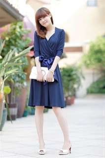 FASHION SEXY LADYS ELEGANT V NECK DESIGN GENEROUS DRESS CONCISE SKIRT