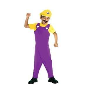 Super Mario Wario Costume (Medium) Toys & Games