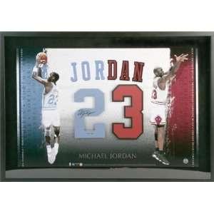 Signed Jordan Picture   North Carolina Framed 23x33 Number