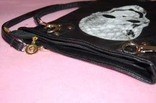 New Punk Rock Skull Snake Skin Black Chic Bag Shoulder Bag Purse