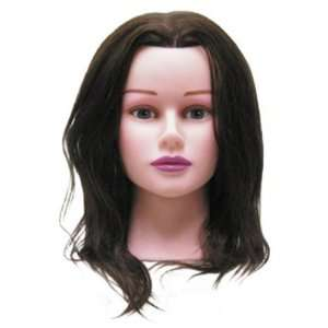 Hair Art Female Mannequin Light Skin 18 100% Human Hair