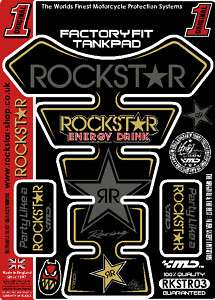 YZF ZXR GSXR CBR Rockstar Energy Drink Tank Pad Tankpad