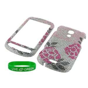 Winter Rose Full Rhinestones Design Snap On Hard Case for