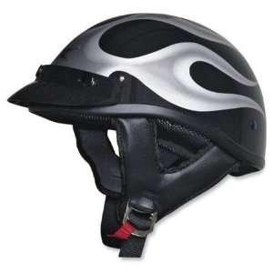 AFX FX 66 Beanie Flame Half Helmet Small  Black