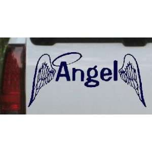 Navy 30in X 14.3in    Angel With Wings Christian Car Window Wall