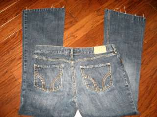 Hollister Womens Logo Low Rise Boot Cut Jeans Size 7