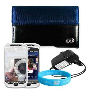 Blue HTC MyTouch Slide 3G Two Tone Carrying Case + Wall