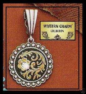 Rhinestone Cowgirl ~Western Charm~ Pendant Silver Gold