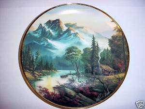 Franklin Mint Mountain Retreat by Ron Huff Ltd Ed Plate