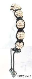10mm Crystal Pave Disco Ball Diamond Ball Friendship Bracelet 10