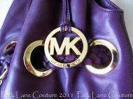 Large Michael Kors Purple Leather Braided Grommet with matching Astor