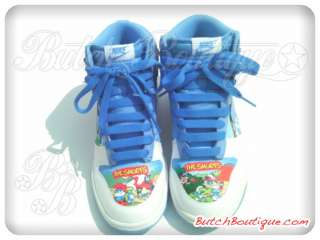 Rare Exclusive Smurfs Sneaker Authentic NIKE DUNK HIGH Men Size 7.5