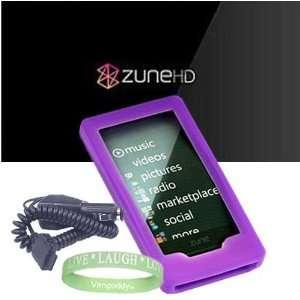 Case Cover + Microsoft Zune HD Car Charger + Live*Laugh*Love Silicone
